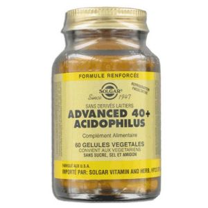 Solgar - Advanced 40+ Acidophilus - 60 gélules