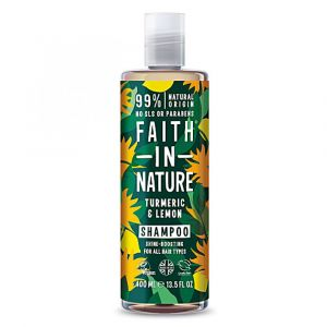 Faith in Nature - Shampooing curcuma et citron - 400 ml