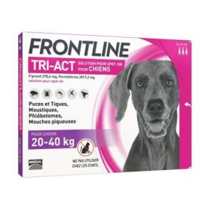 Frontline - Tri-Act Chien 20-40 kg - 3 pipettes