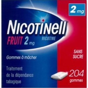 Nicotinell 2 mg - Fruit - 204 gommes