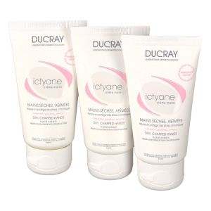 Ducray - Ictyane crème mains - 3 x 50ml