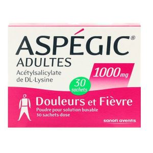 Aspégic 1000 mg - 30 sachets