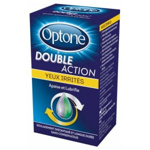 Optone - Double Action Yeux irrités - Flacon 10ml